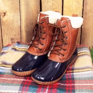 Shoes - EDITH Duck Boots - NAVY